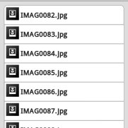 DiziDisk - интерфейс для Android - Список файлов