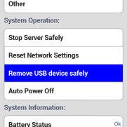 DiziDisk - интерфейс для Android - Отключение USB накопителя