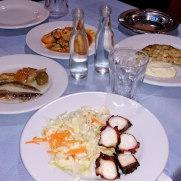 Йолкос. Ципуро и закуски