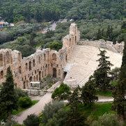 Афины. Одеон Герода Аттического