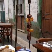 Ресторан Casa Acoreana. Говядина на шпаге