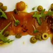 Ресторан Rossio. Карпаччо из тунца