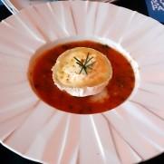 Ресторан Rossio. Запеченый камамбер в томатном соусе