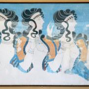 Дамы в голубом. Копия фрески. Кноссос, Крит. 2015