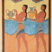 Переносчики воды. Копия фрески. Кносос, Крит. 2015