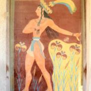 Принц с лилиями. Копия фрески. Кноссос, Крит. 2015