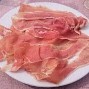 Ресторан Il Paguro. Прошуто и дыня