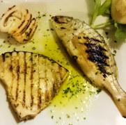 Ресторан Lustru di Luna. Рыба на гриле