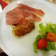 Пиццерия La Scaletta. Жареный сыр скаморца с прошутто