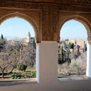 Вид из Хенералифе на Альгамбру. Альгамбра. Гранада, Испания, 2015