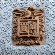Герб на фасаде дома. Самора, Испания, 2016