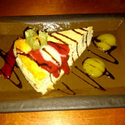 Ресторан Lasite. Лимонный чизкейк