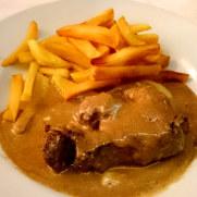 Филе говядины в перечном соусе. Ресторан Brasserie. Фуншал, Мадейра, 2016