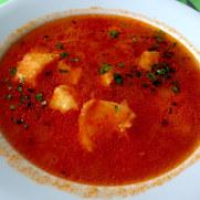 Рыбный суп. Ресторан Salgueiro. Порту Мониш, Мадейра, 2016