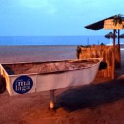 Пляж вечером. Фуэнхирола, 2017