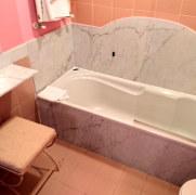 Ванная в номере 418. Hotel Simplon, Стреза, Италия. 2018