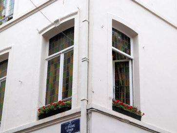 Брюссель. Дом с разноцветными окнами