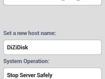 DiziDisk - интерфейс для Android - Настройки WiFi