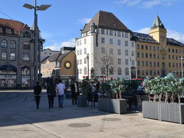 Осло. Площадь центрального вокзала