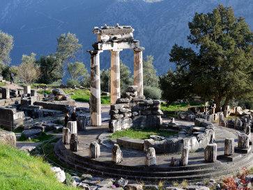Античные Дельфы. Храм Афины