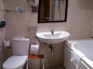 Гостиница Los Cantaros. Ванная