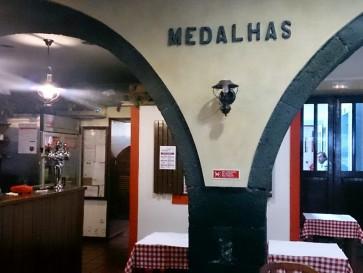 Ресторан Medalhas. Внутри
