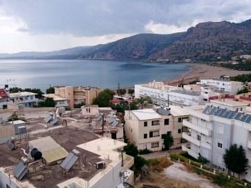 Пляж Пахия Аммос. Палеохора, Крит. 2015