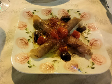 Ресторан La Cambusa. Тунец маринованный