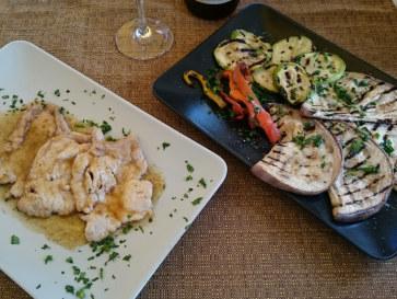 Ресторан Il Galeone. Свинина с овощами на гриле