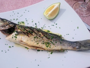Ресторан Il Paguro. Рыба