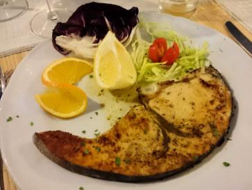 Ресторан La Scogliera. Рыба меч