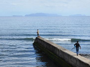 Вид на острова Дезерташ. Машику, Мадейра, 2016