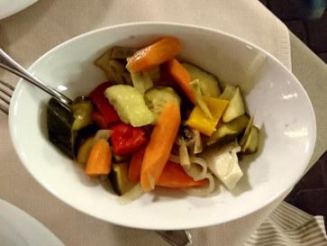 Кисло-сладкие овощи. Ресторан Al Braciere, 2018
