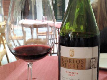 Вино. Ресторан при гостинице Ovetense. Овьедо, Испания, 2011