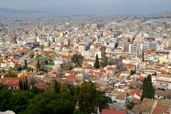 Афины. Вид на город из Акрополя