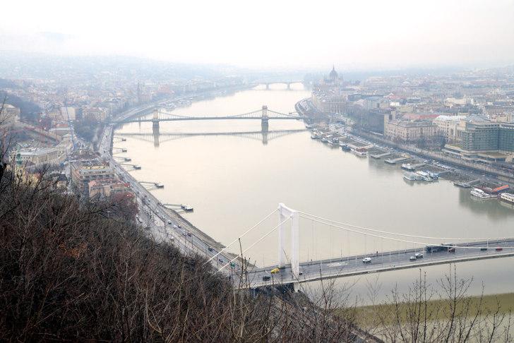 Будапешт. Вид с холма Геллерт