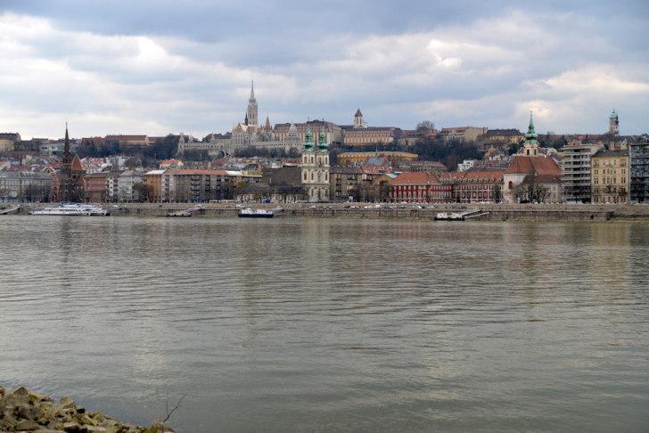 Будапешт. Вид на Буду из Пешта