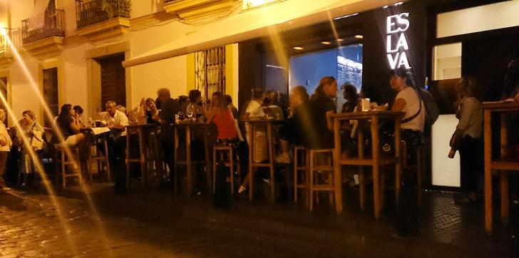 Ресторан-бар Eslava. Вечером