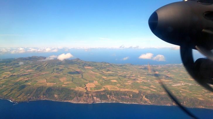 В небе над Сан Мигелем. Азорские острова