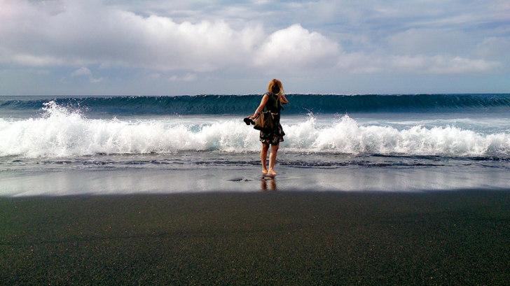 Пляж Рибейра Даш Кабраш. Прая ду Норте, Фаял. Азоры
