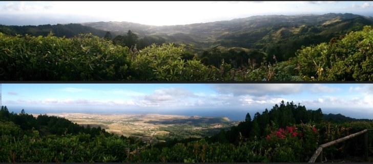 Панорамы острова с пика Альту. Санта Мария