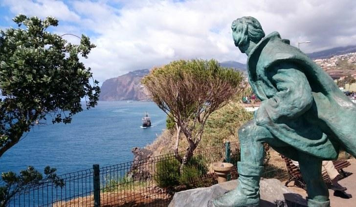 Один из памятников Зарко. Фуншал, Мадейра, 2015