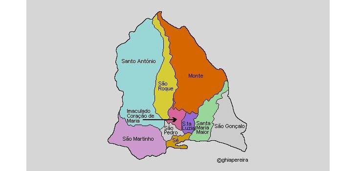 Районы Фуншала (изображение с сайта: www.dholmes.com)
