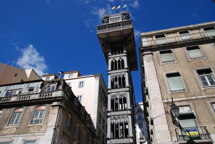 Лифт Санта Жуста. Лиссабон, Португалия. 2010