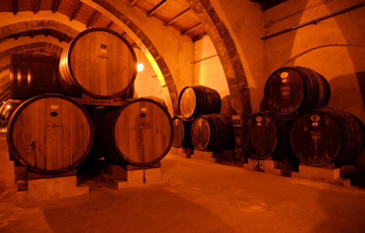 Винный погреб. Винодельня Florio. Марсала, Сицилия. 2015