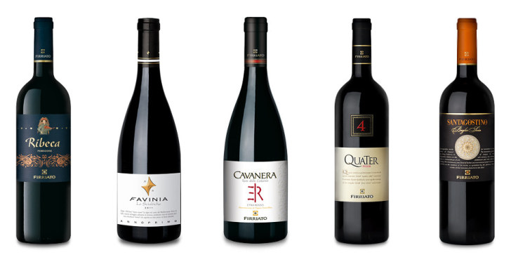 Красные вина Firriato (фото с сайта: firriato.it)