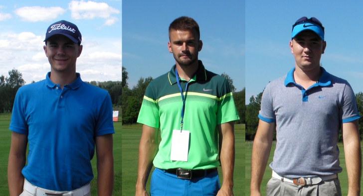Победитель и призеры ОЧР-2016 по гольфу. Слева-направо: Bouda, Gudelj, Kurbanaliev