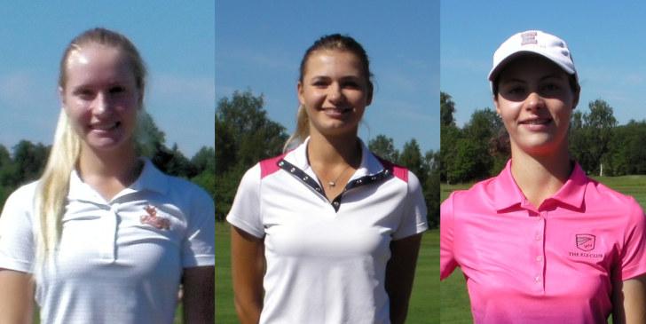 Победитель и призеры ОЧР-2016 по гольфу. Слева-направо: Иванова, Анохина, Бакал