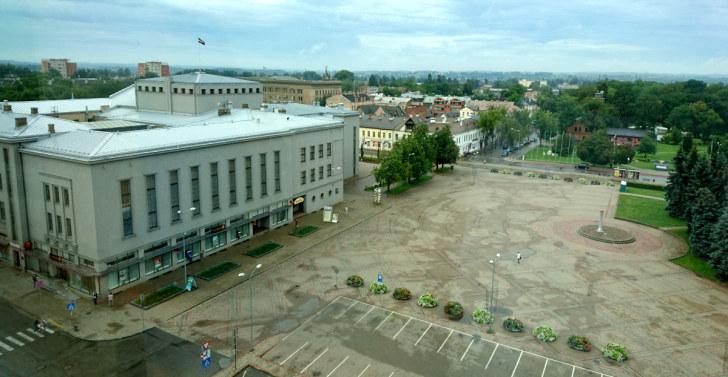 Вид из окна гостиницы Latgala Park Hotel на Даугавпилс. Латвия, 2016