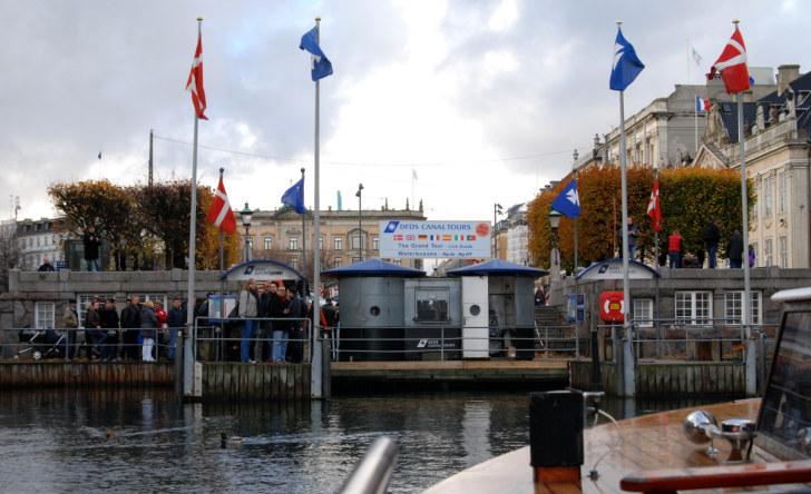 Причал экскурсионных лодок. Нюхавн, Копенгаген, 2010